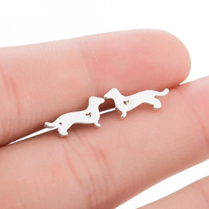 Mini Stud Earrings Dachshund