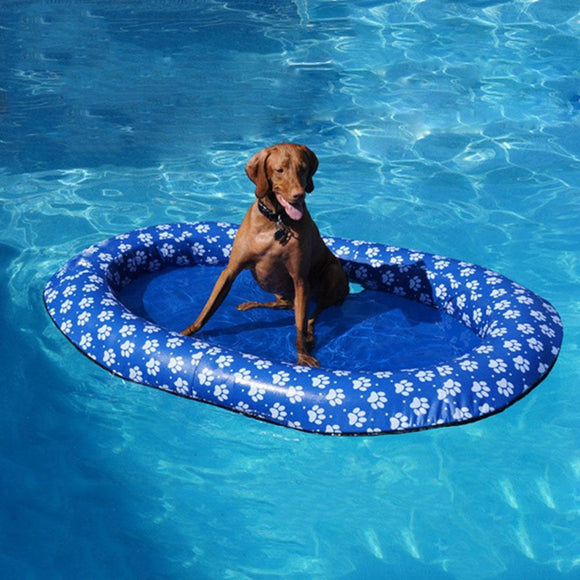 Large Inflatable Floating Dog Pool Raft Summer Swimming Pool Toy