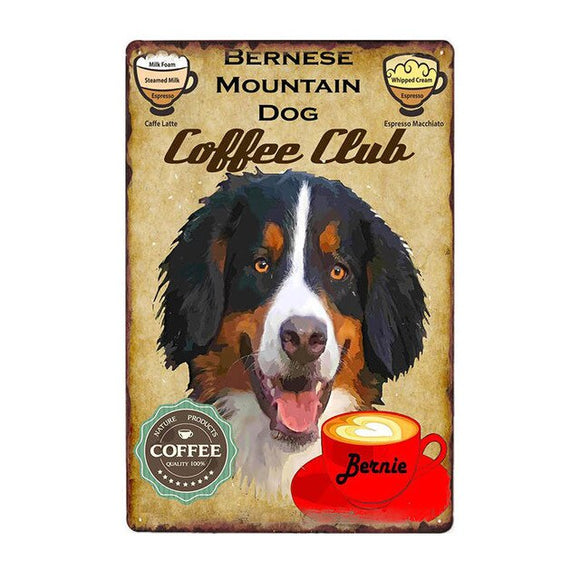 Vintage Sign Bernese Mountain Dog