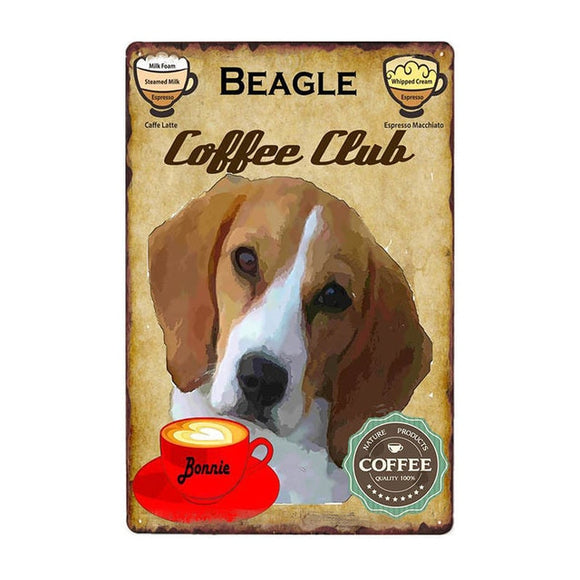 Vintage Sign Beagle Coffee Club