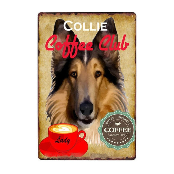Vintage Sign Collie Coffee Club