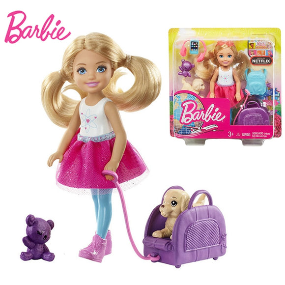 Mini Barbie Doll Dog Set