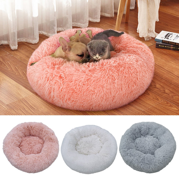 Warm Cozy Plush Pet Bed