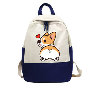 Corgi Backpack Schoolbag For Teenage Girl Children Travel Bag