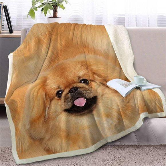 Soft Throw Blanket Pekingese