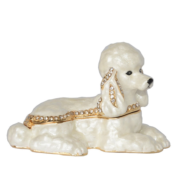 Poodle Figurine Jewelry Box