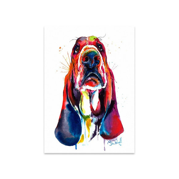 Canvas Paint Wall Art Basset Hound