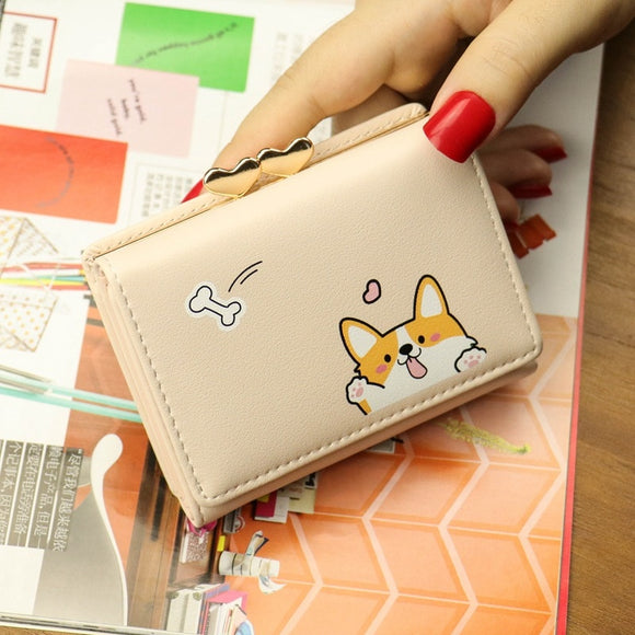 Women's Corgi Wallet Ladies Purse Clutch