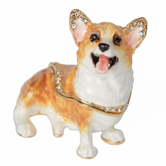 Corgi Figurine Jewelry Box