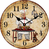 Kitchen Chef with Dachshund Wall Clock