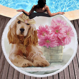 Quick-Dry Cocker Spaniel Beach Towel Microfiber Home Decor