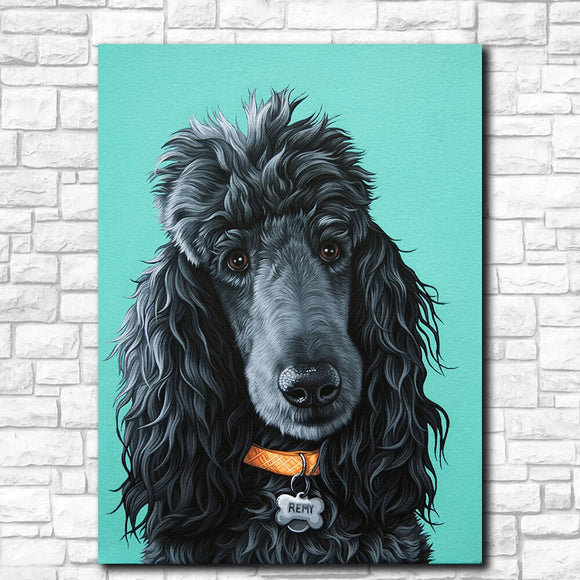 Poodle Canvas Print Wall Art Home Decor Living Room Painting