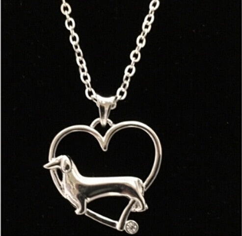 Sterling Silver Doxie Necklace