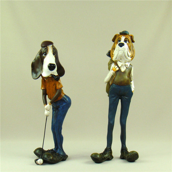 Vintage Golf Player Dogs