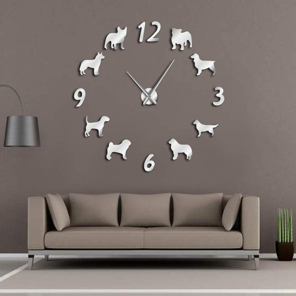 Wall Clock Dogs