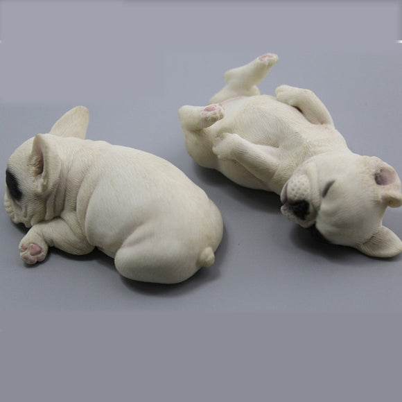 Resin Sculptures French Bulldogs