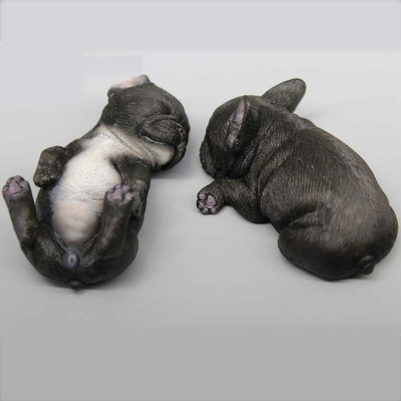 Resin Sculptures Frenchies