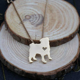 Necklace with Pug Pendant