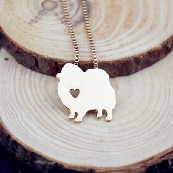 Necklace with Pomeranian Pendant