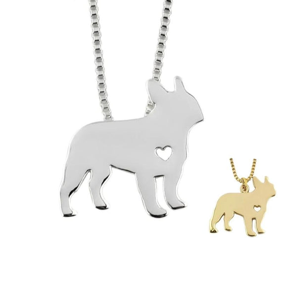 Necklace with French Bulldog Pendant