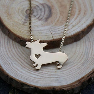 Necklace with Welsh Corgi Pendant