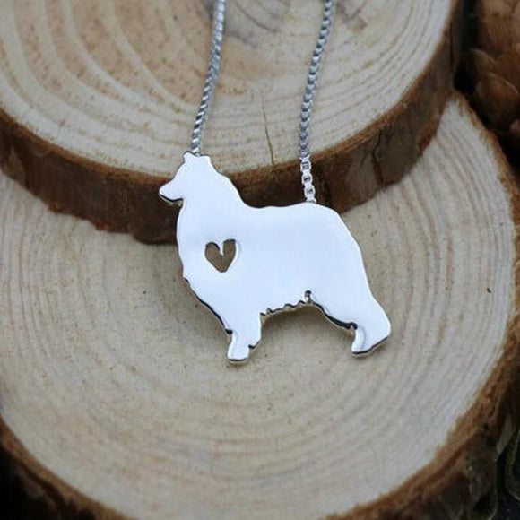 Necklace with Australian Shepherd Dog Pendant