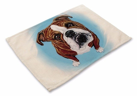 Table Placemat with English Bulldog Design