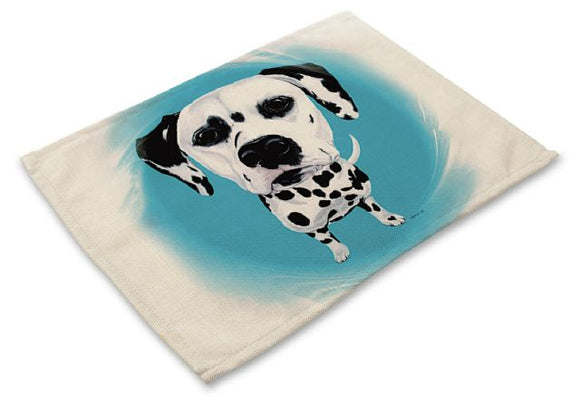 Table Placemat with Dalmatian Design