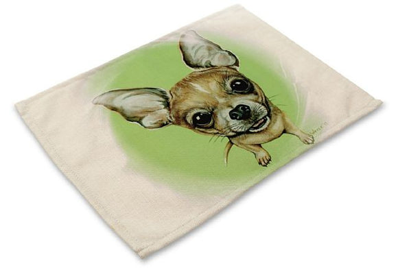 Table Placemat with Chihuahua Design