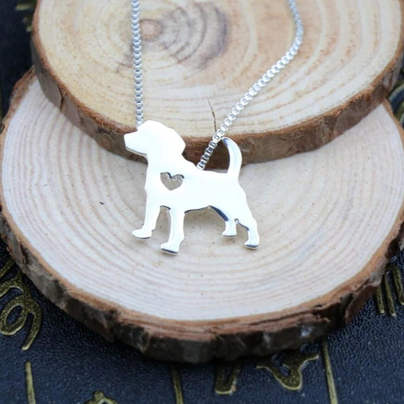 Necklace with Beagle Pendant