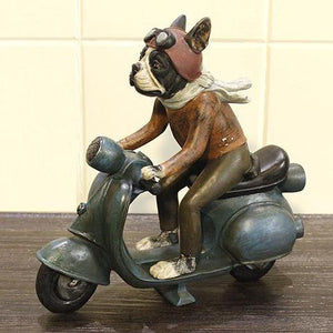 Motorcyclist Sculpture