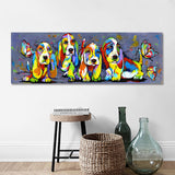 Wall Art Canvas Print Basset Hounds