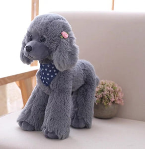 Plush Toy Poodle Dog