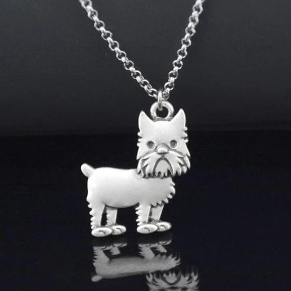 Retro Vintage Brussels Griffon Necklace