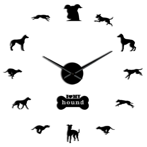 Greyhound Wall Clock Greyhound Home Decor