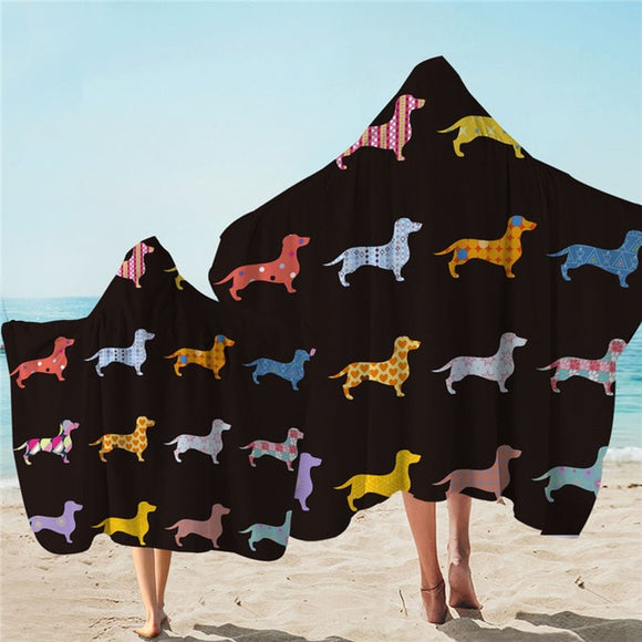 Dachshund Beach Towel With Hood