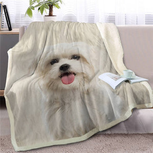 Throw Blanket Sherpa Fleece Lhasa Apso