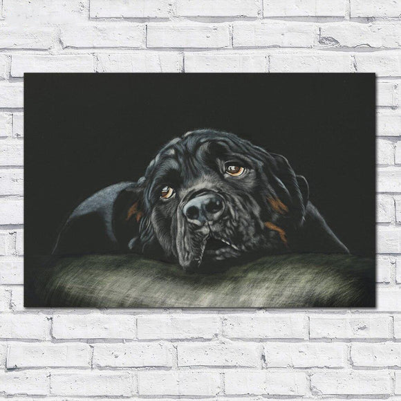 Rottweiler Canvas Print Wall Art Home Decor Living Room Painting