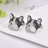 Stud Earrings Fine Jewelry Boston Terrier French Bulldog