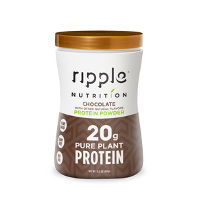 Ripple Nutrition Chocolate Plant-Based Protein Powder (4 pack)