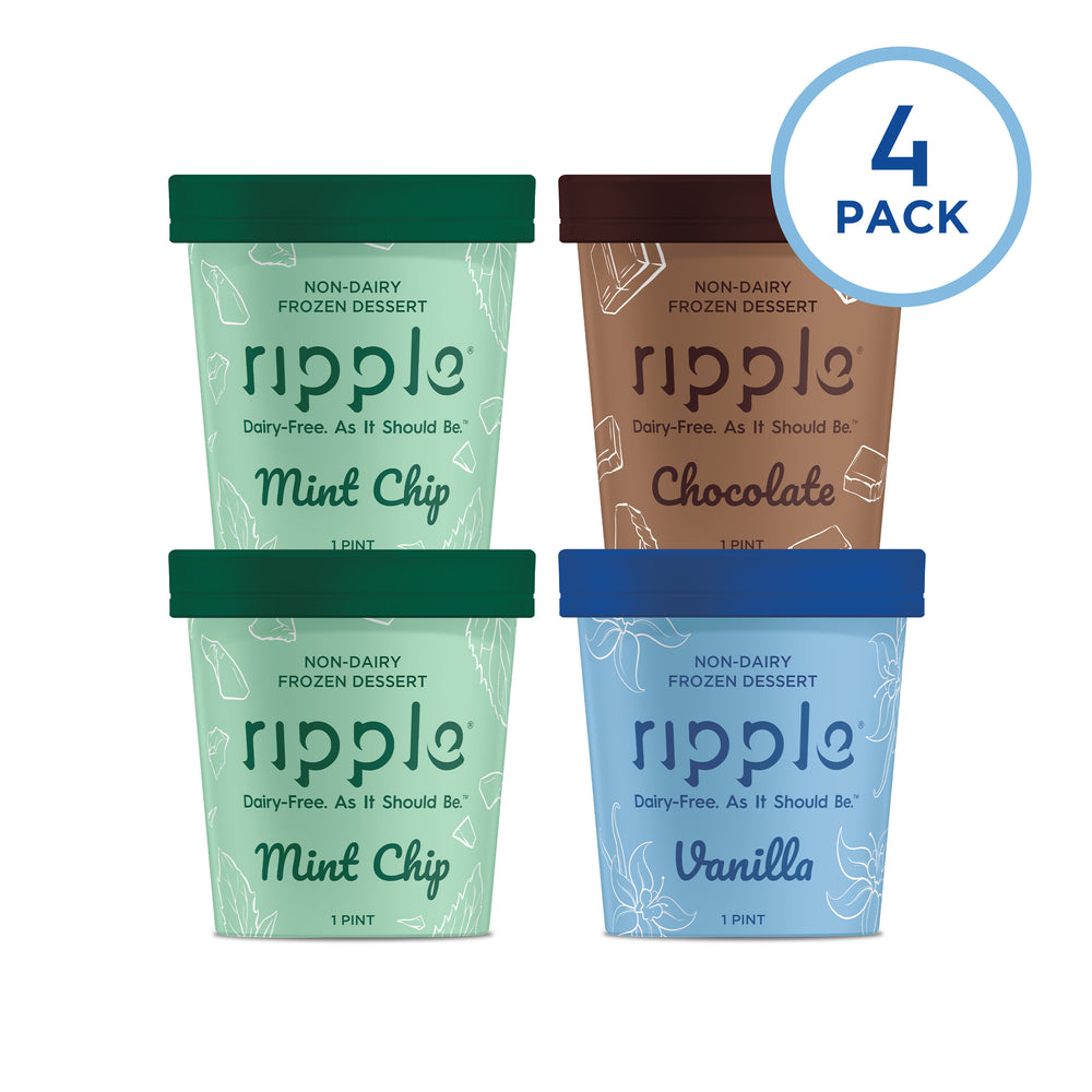 Ripple Fan Favorites Frozen Dessert (4 Pack) - GLUTEN FREE