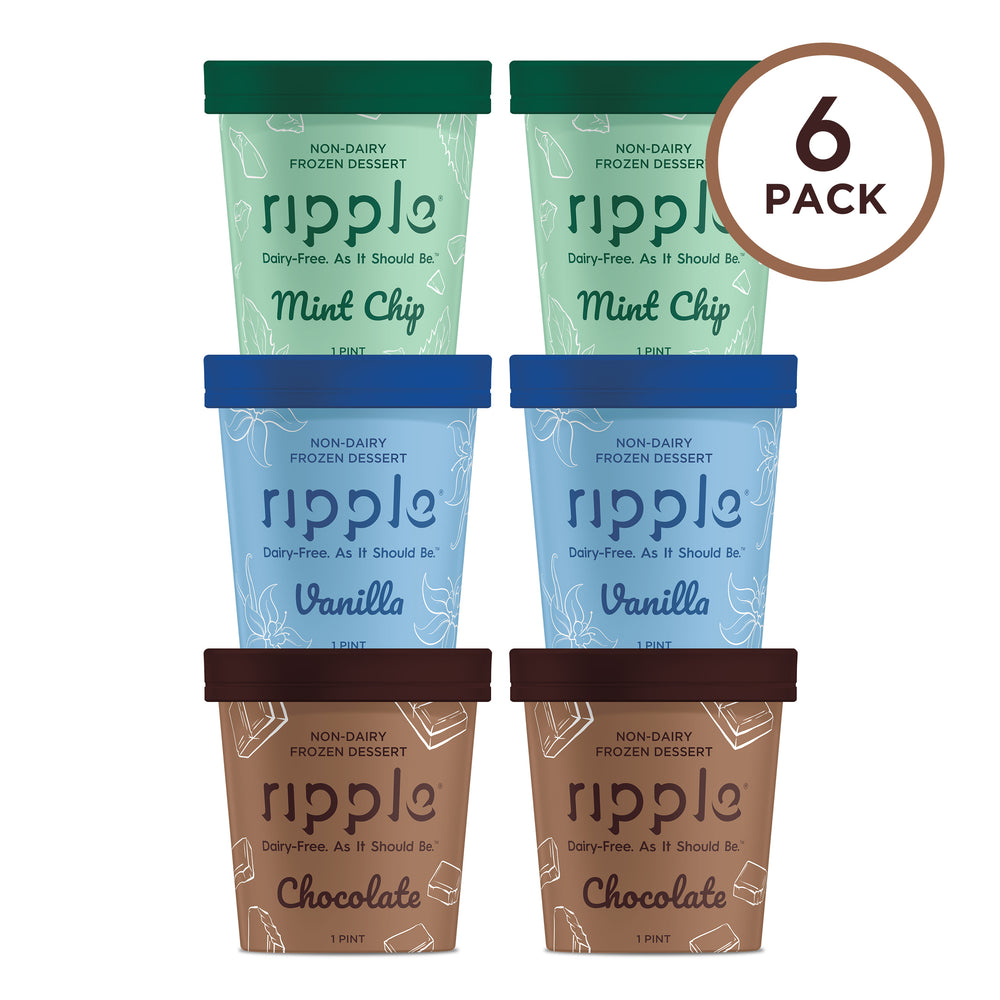 Ripple Fan Favorites Frozen Dessert (6 Pack) - GLUTEN FREE
