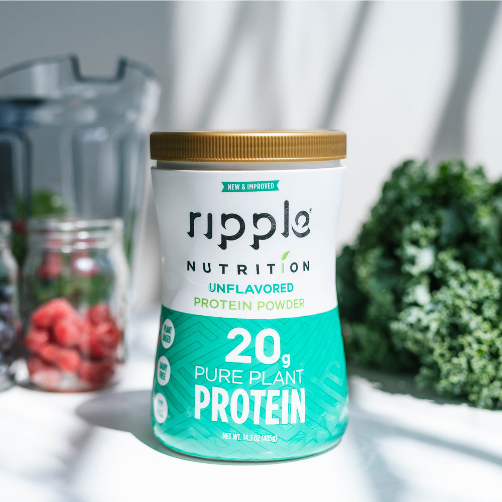 Ripple Nutrition Unflavored Plant-Based Protein Powder
