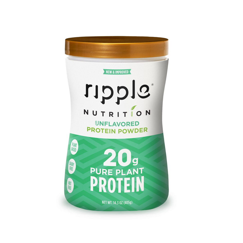 Ripple Nutrition Unflavored Plant-Based Protein Powder (4 pack)
