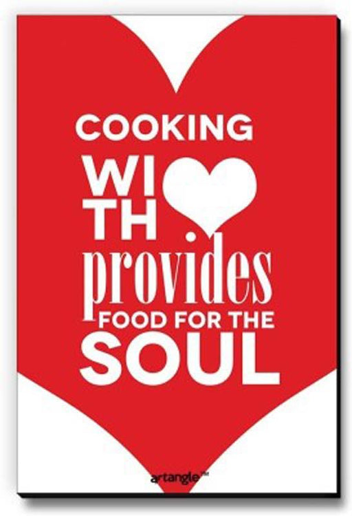 Cooking With Love Provides Food For Soul Fridge Magnet