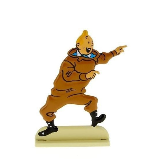 Tintin Excited Relieffigurine