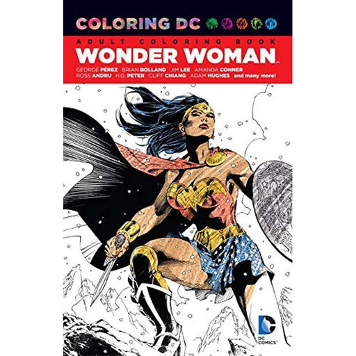 Coloring Dc Wonder Womanpaperback