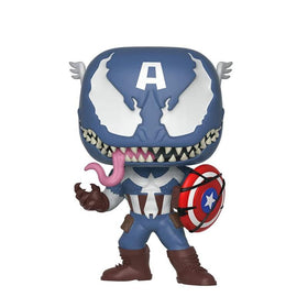 Pop Marvel Venom Venomized Captain America Bobble Head