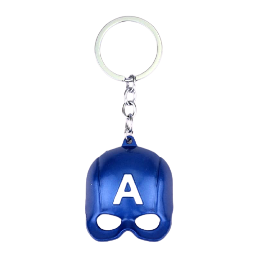 Captain America Mask Keychain