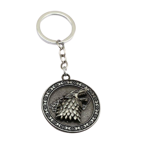 Game of Thrones Stark Rotating Key Chain - www.entertainmentstore.in